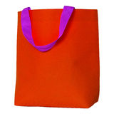 Red shopping bag isolated on white Stock Photography