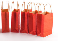 Red shopping bag line Stock Photography