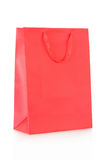 Red shopping bag in paper Stock Image