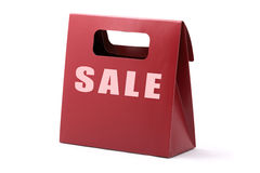 Red shopping bag with SALE word Royalty Free Stock Photo