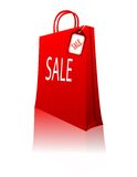 Red shopping bag vector Stock Photos