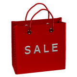 Red shopping bag with word sale Royalty Free Stock Images