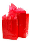 Red shopping bags Royalty Free Stock Image