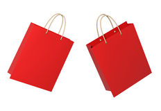 Red shopping bags Stock Photo