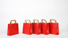 Red shopping bags Royalty Free Stock Photos