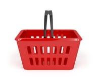 Red shopping basket Stock Image