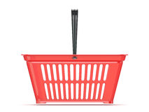 Red shopping basket. Front view Royalty Free Stock Image