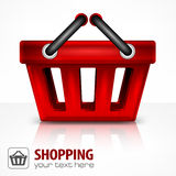 Red shopping basket Stock Photography
