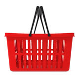 Red Shopping Basket isolated on white Stock Images