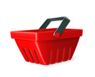 Red shopping basket Royalty Free Stock Images