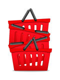 Red Shopping Baskets Royalty Free Stock Photos