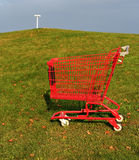 Red shopping cart. Perfect for backgrounds or industry illustration Royalty Free Stock Image