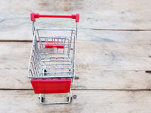 Red shopping cart Stock Images