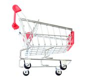 Red Shopping Cart Isolated On White Stock Photo