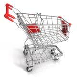 Red shopping cart Stock Photos