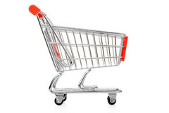 Red shopping cart Royalty Free Stock Photo