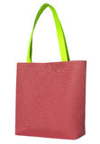 Red shopping fabric bag Stock Photos