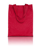 Red shopping fabric bag Stock Photography