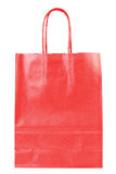Red shopping paper bag Stock Photo