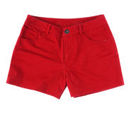 Red short girl pant isolated  Royalty Free Stock Images