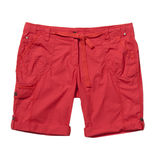 Red shorts isolated on white