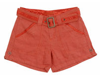 Red shorts Stock Photography