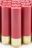 Red Shotgun Shells Lined Up Royalty Free Stock Image