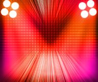 Red Show Room Spotlights Stage Background Royalty Free Stock Photography