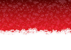 Red showflakes. Christmas winter background with snowflakes Royalty Free Stock Photos