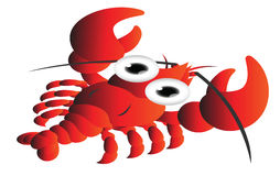 Red shrimp cartoon Royalty Free Stock Photography