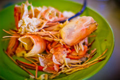 Red Shrimp Shells Stock Images