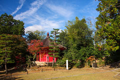 Red shrine at Tofukuji temple Stock Photos