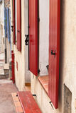 Red shutter Royalty Free Stock Photos