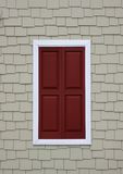 Red shutters Royalty Free Stock Images