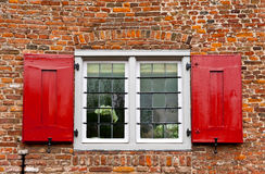 Red Shutters Stock Photos
