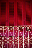 Red Shutters Royalty Free Stock Photos
