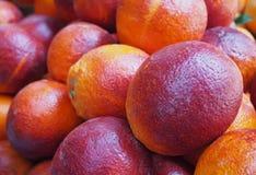 Red sicilian oranges at market Stock Photos