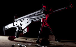 Red side lighted rifle Stock Image