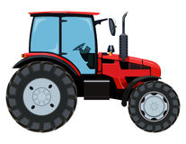 Red side tractor Royalty Free Stock Images