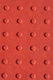 Red sidewalk non slip pad background Royalty Free Stock Photo