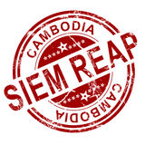 Red Siem Reap stamp Royalty Free Stock Photography