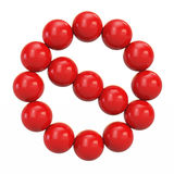 Red sign ban of balls Royalty Free Stock Photography