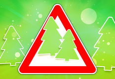 Red sign Christmas fir. Graphic illustration design Stock Photography