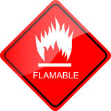 Red Sign Flammable Stock Images