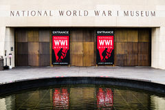 Red Sign - National World War I Museum in Kansas City Stock Image