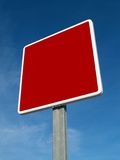 Red signal. Red traffic signal Royalty Free Stock Photos