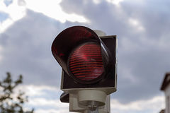 Red signal street traffic Royalty Free Stock Images