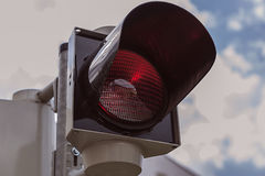 Red signal street traffic Stock Photography