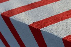 Red Signal Stripes on White Stock Photography