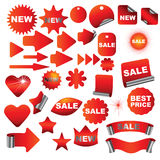 Red signs Stock Photography
